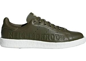 Mens Adidas Stan Smith Boost Neighbourhood trainers shoes Olive UK size 8