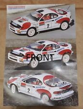 TAMIYA #58119 TOYOTA CELICA GT-FOUR RC DEALER POSTER
