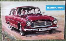 GOLIATH HANSA 1100 CAR SALES BROCHURE CIRCA 1957 (LARGE FORMAT - GERMAN TEXT)