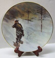 Blizzard of 1888 The Spirit of Service Plate Signed by VP Customer Service