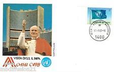 1983 - FDC 1°JOUR -  PAPE J.PAUL II  A LA CITE DE L'ONU - TIMBRE AUTRICHE