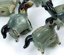 Lampwork Handmade Glass Wild Gray Horse Beads