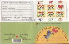 Friendship Love Heart Bird Flowers Finland Mint MNH Booklet 1993