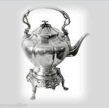 James Dixon Sheffield silver plate teapot with burner - circa 1835 FREE SHIPPING