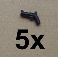 Lego 5x schwarzer Revolver Pistole Waffe black Pistol Gun Neu 30132 schwarz