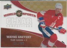 Wayne Gretzky 2010 Upper Deck World Of Sports Clear Competitors Card # CC16 /550