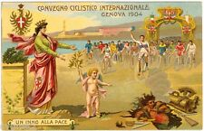 POSTCARD ITALIAN 1904 GENOA INTERNATIONAL BICYCLE MEET