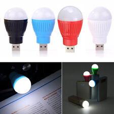 Linterna de Camping Mini USB LED Luz Lámpara Bombilla de luz alimentado por USB