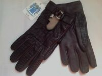 **sz 7.5** nwt Portolano Leather 100% Lambwool Lined Gloves made in ITALY #1a