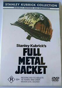 Full Metal Jacket, R4 DVD, VGC, FREE POST