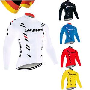 Herren Atmungsaktiv Fahrradtrikot Radtrikot Langarm Sport Team Fahrradbekleidung