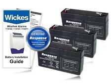 Wickes Alarms 710751 Panel & Siren Genuine HW10 6V 1.2Ah Replacement Battery KIT