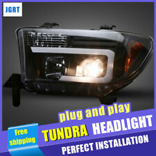 2007-2013 For Toyota Tundra Headlights assembly bi-xenon Lens Projector LED DRL