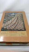 """Vintage Badger Mills Cartwheel Afghan to Crochet Kit 46"""" x 63"""" - Nip"""