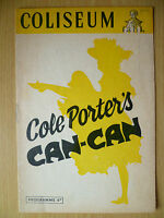 1954 COLISEUM Theatre Programme: COLE PORTER'S CAN CAN BY JEROME WHYTE
