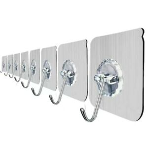 10pcs Strong Suction Cup Wall Coat Hat Hanger Holder Kitchen Bathroom