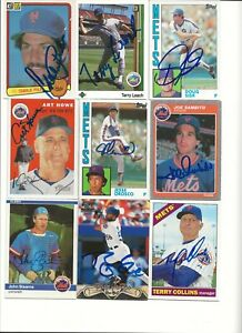 NEW   YORK   METS         9     CARD   AUTOGRAPHED   LOT