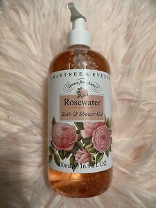 Crabtree & Evelyn Rosewater Bath & Shower Gel 16.9 Fl Oz Each NEW