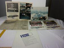 Lancia Zagato 1977 Beta Coupe magazine ads clippings car dealership brochure L3