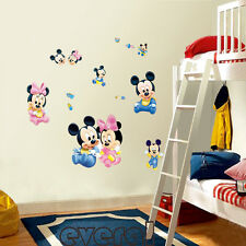 New Mickey Mouse Minnie Art Wall Decals  Stickers Mural Kids Nursery Home Decor