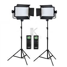 2x Godox LED500C Panel 3300-5600K Bi-color Video Light 2.8m Stand Lighting Kit