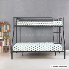 Twin over Full Bunk Beds Ladder Kids Metal Adult Bedroom Double-layer Y2B8