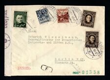 15375-SLOVAKIA-EXPRES nazi CENSOR COVER BYSTRICA to BERLIN (germany)1942.WWII.