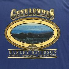 Vintage Blue Harley Davidson T-Shirt 1998 Size Large
