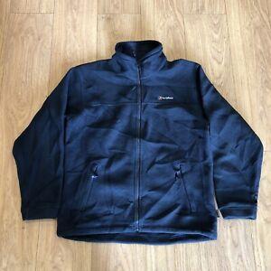 Mens Zip Up Fleece Jacket L Large Berghaus Blue B6053