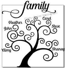 vinyl decal sticker Ikea frame size - personalised family tree - up to 6 names