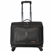 Aerolite 4 Wheel Laptop Trolley Wheeled Cabin Hand Luggage Briefcase Office Bag