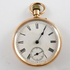 Pocket Watch No 109141 Working Antique 14Ct Gold Filled Open Face