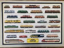 MODERN LOCOMOTIVES, TRAINS, RARE  AUTHENTIC 1985 POSTER