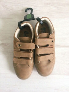 Boys NEXT brown fabric/leather casual shoes size 2 BRAND NEW XMAS SCHOOL