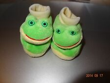 Baby Frog green slippers boy or girl, Unisex Size 0-3 months footware