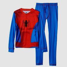 BOYS SPIDERMAN CUDDL DUDS LONG JOHNS PANTS & SHIRT SIZE 16 - 18 XLARGE NWT