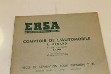 catalogue de pièces détachées ERSA POUR CITROEN T 23  EN TBE