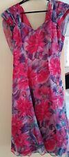 Mr K Pink Floral Dress (size 12) - suitable for Formal/Evening wear
