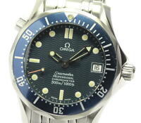 OMEGA Seamaster300 2551.80 Date Navy Dial Automatic Boy's Watch_577187