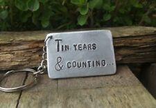 TIN Years & Counting 10th Wedding Anniversary Gifts 10 KEYRING Keychain Husband