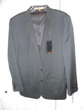 NEW $600 BEN SHERMAN Jacket 44 L Long charcoal dark grey 100% wool SLIM fit