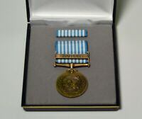 Korean War United Nations Service Medal Presentation Display Case Set - U.N. UN