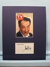 Televison Personaliy & Musician - Victor Borge  and his autograph