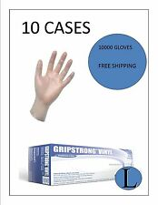 Vinyl Disposable (FOOD SERVICE) LARGE 10 CASES- 10000 GLOVES FREE SHIPPING