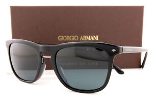Brand New GIORGIO ARMANI Sunglasses AR 8107 5017R5 Black/Grey Blue For Men