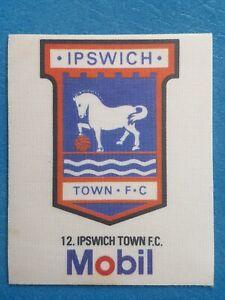 Mobil Football Club Badges Silk 1983 Ipswich Town