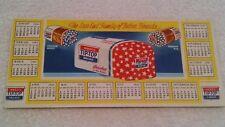 Vintage 1945 WARD's Star-End Tip-Top Bread Calendar Ink Blotter (used)