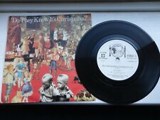 """FEED THE WORLD DO THEY KNOW IT'S CHRISTMAS BAND AID single vinyl 7"""" 45 rpm 1984"""