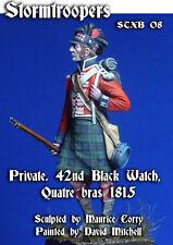 Stormtroopers 42nd Black Watch Highlander 1815 Waterloo Unpainted kit 75mm CORRY