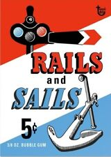 2018 Topps 80th Anniversary Wrapper Art Card #100 - 1955 Rails and Sails